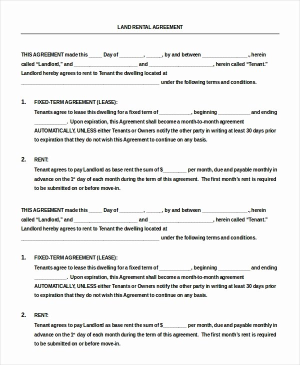 Free Rental Agreement Template Lovely Blank Rental Agreement 14 Free Word Pdf Google Docs