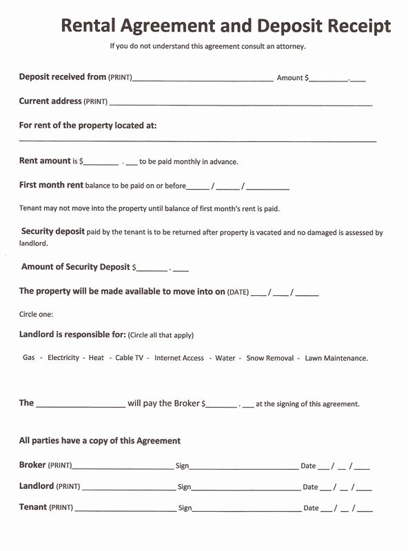 Free Rental Agreement Template Luxury Printable Sample Free Printable Rental Agreements form