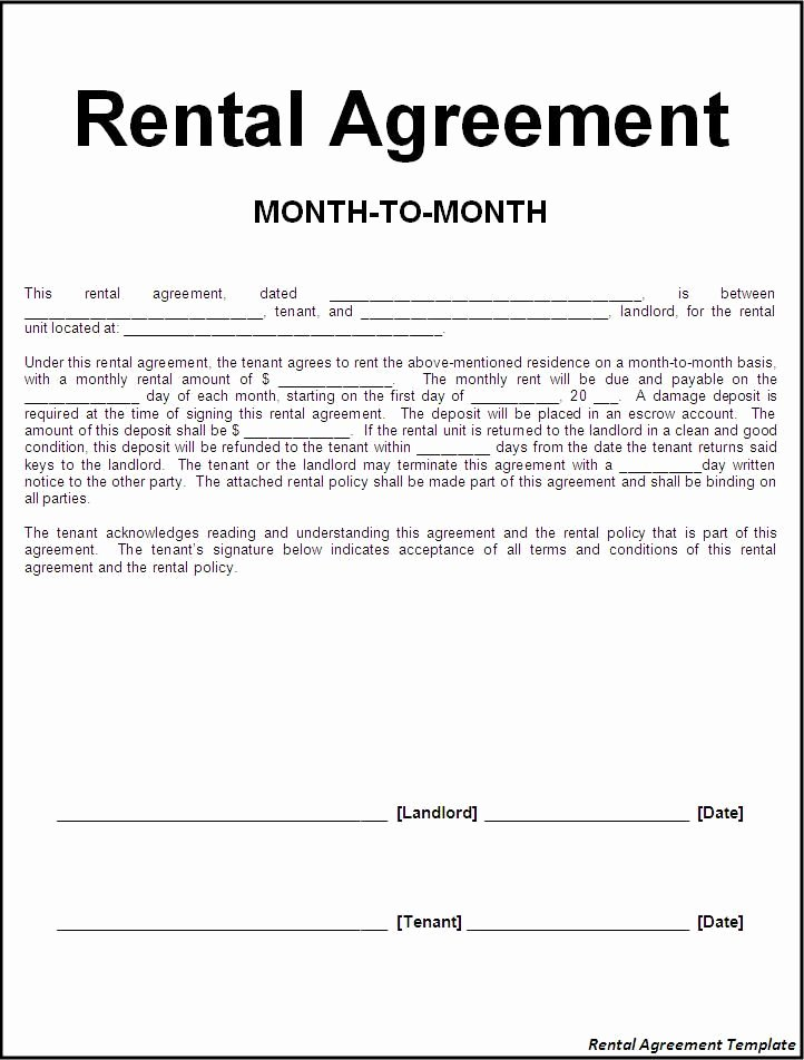 Free Rental Agreement Template Unique Printable Sample Rental Lease Agreement Templates Free