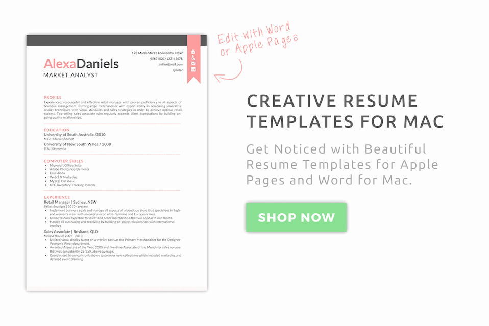 Free Resume Templates for Mac Awesome Creative Resume Templates for Mac & Apple Pages ٩ ͡๏̯͡๏ ۶