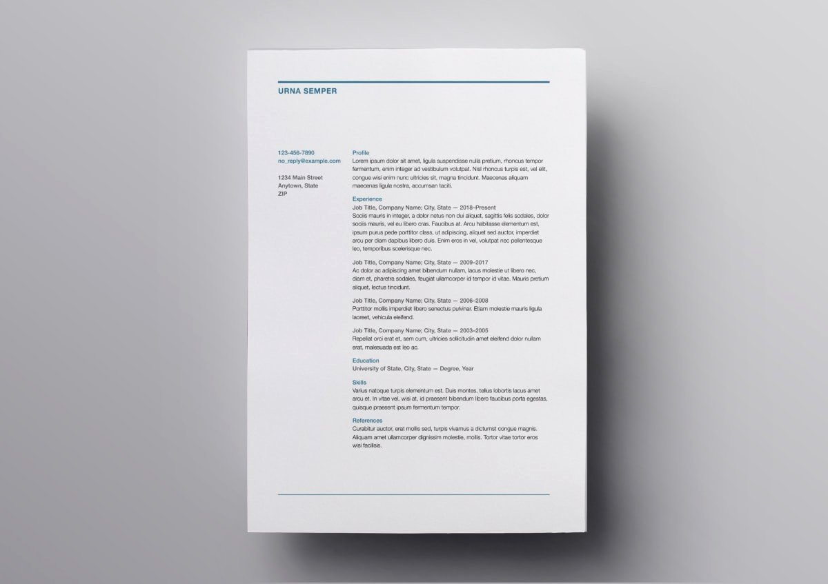 Free Resume Templates for Mac Elegant Pages Resume Templates 10 Free Resume Templates for Mac