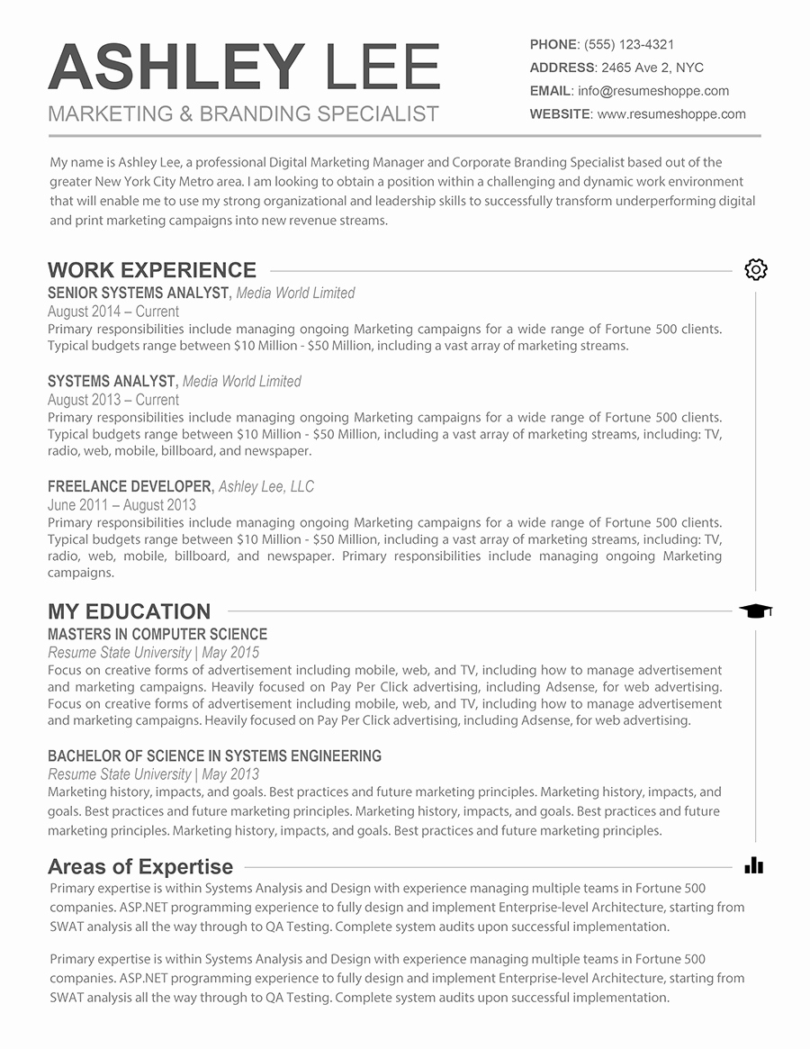 Free Resume Templates for Mac Fresh Resume Template Mac