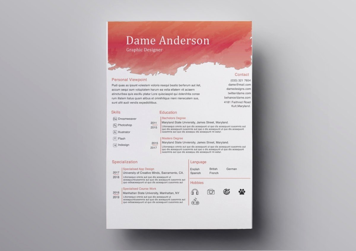 Free Resume Templates for Mac Lovely Pages Resume Templates 10 Free Resume Templates for Mac