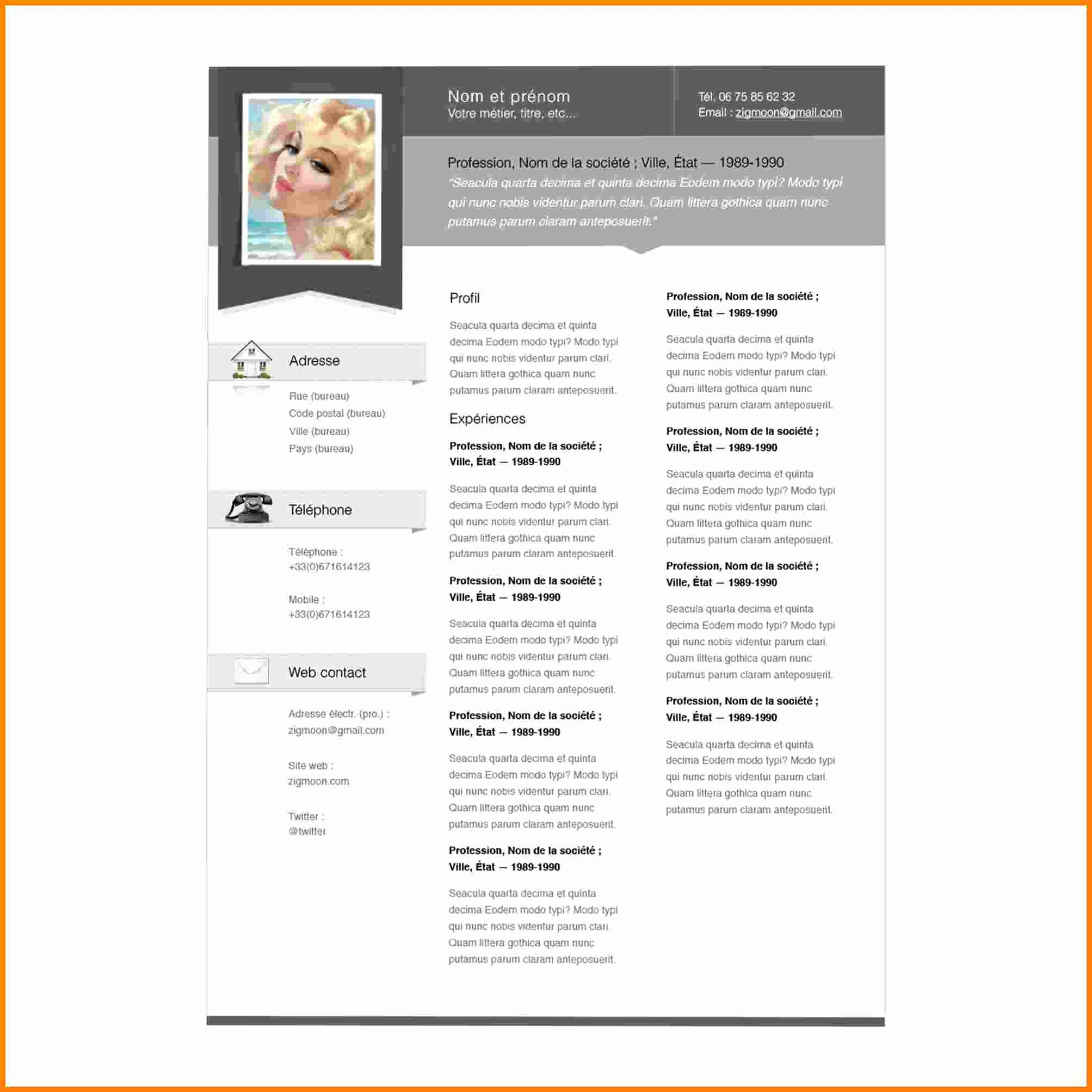 Free Resume Templates for Mac New 6 Cv Pages Template