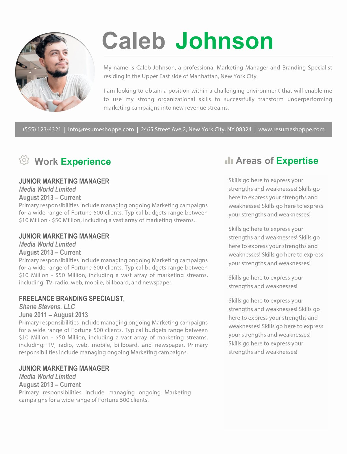 Free Resume Templates for Mac New the Caleb Resume