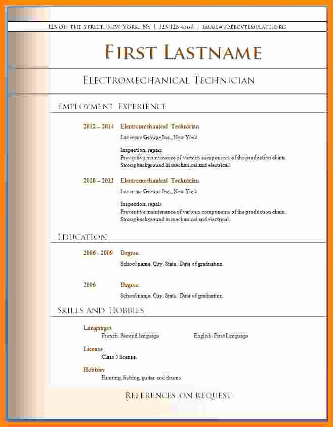 Free Resume Templates Pdf Awesome 14 Cv Free Pdf