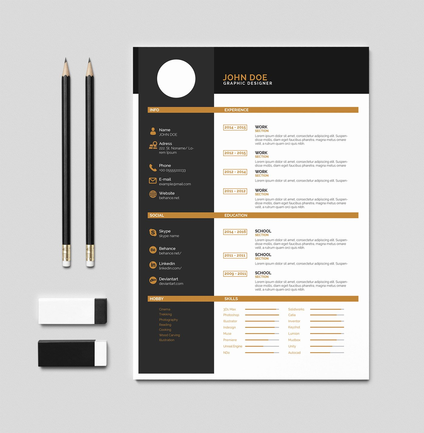 Free Resume Templates Pdf Beautiful Free Cv Resume İndesign Pdf Template On Behance