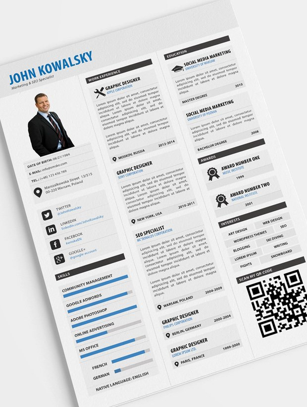 Free Resume Templates Pdf Best Of 10 New Fashion Resume Cv Templates for Free Download
