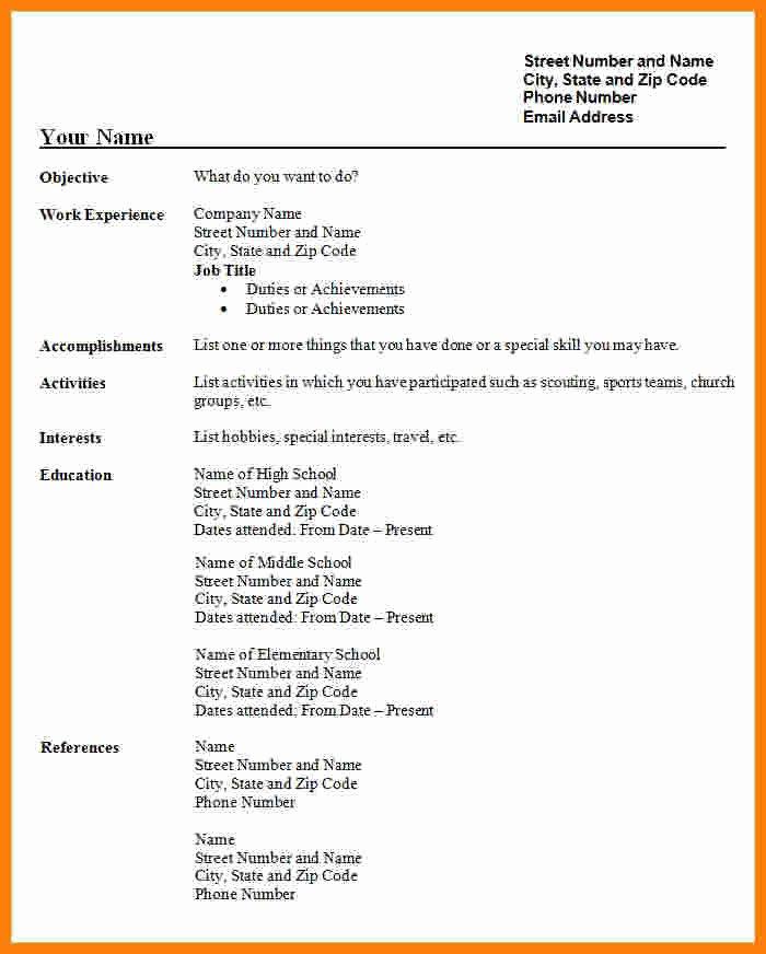 Free Resume Templates Pdf Lovely 5 Cv format Pdf Free