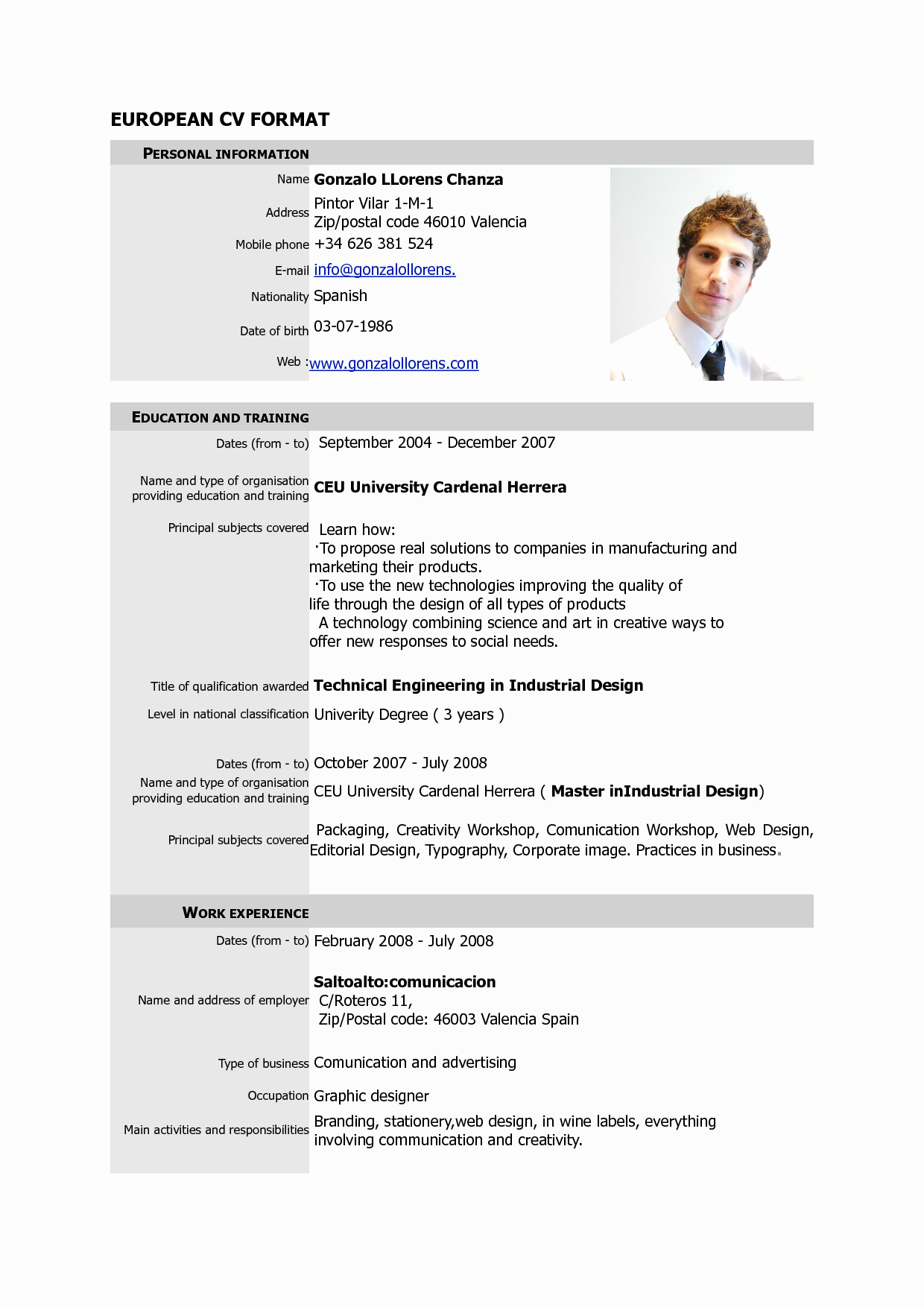 Free Resume Templates Pdf Lovely Free Download Cv Europass Pdf Europass Home European Cv