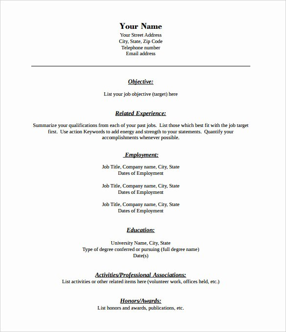 Free Resume Templates Pdf Luxury 46 Blank Resume Templates Doc Pdf