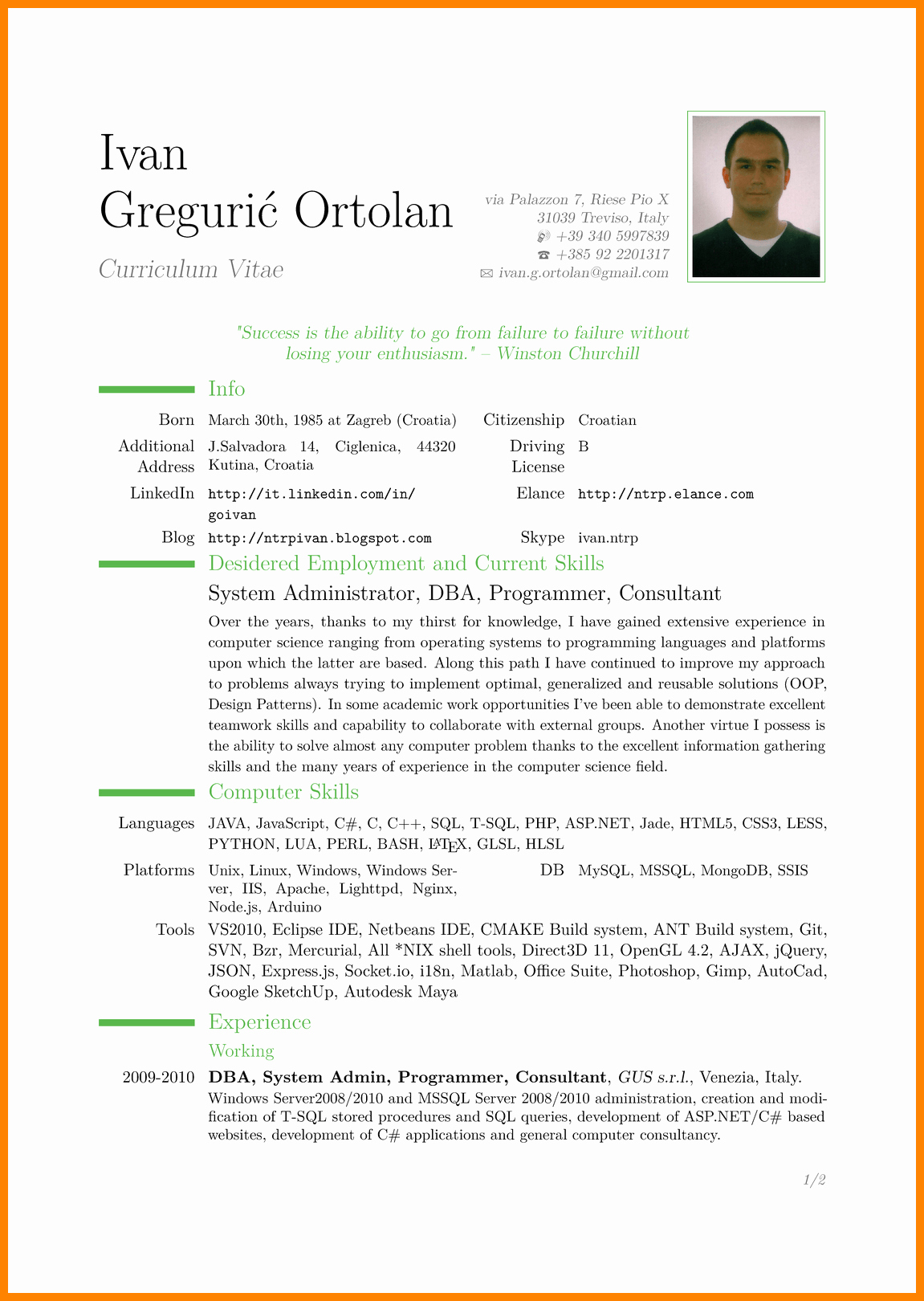 Free Resume Templates Pdf Luxury 9 Cv In English Example Doc