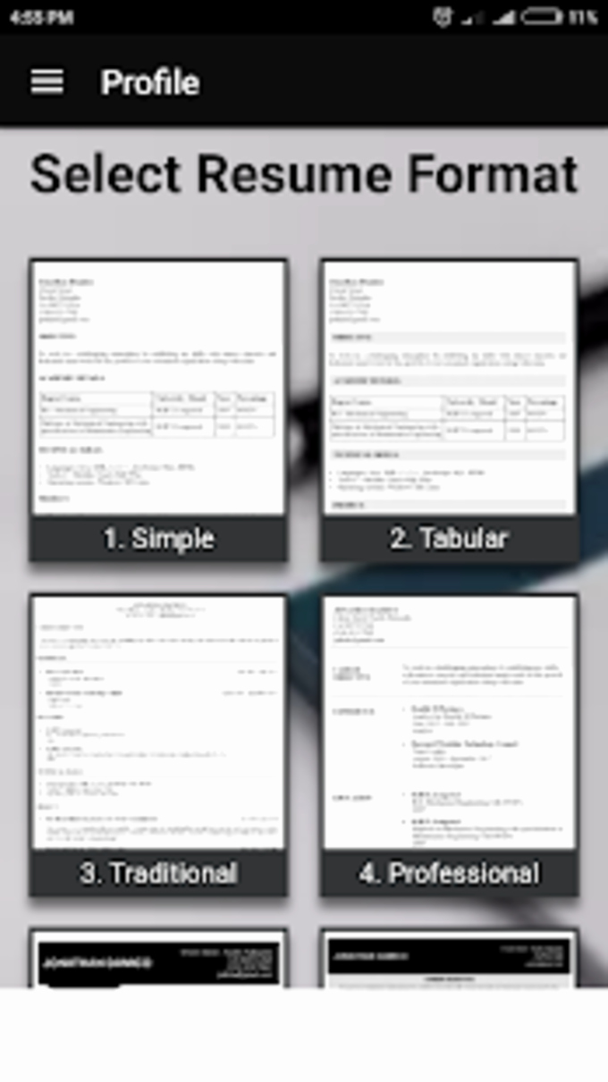 Free Resume Templates Pdf Luxury Smart Resume Builder Cv Free for android Download