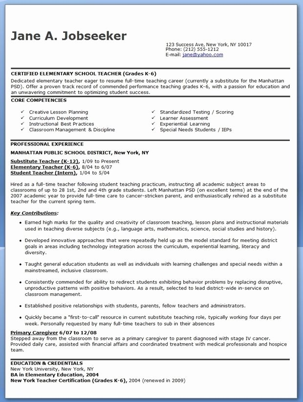 Free Sample Resume for Teachers Inspirational Elementary School Teacher Resume Samples Free