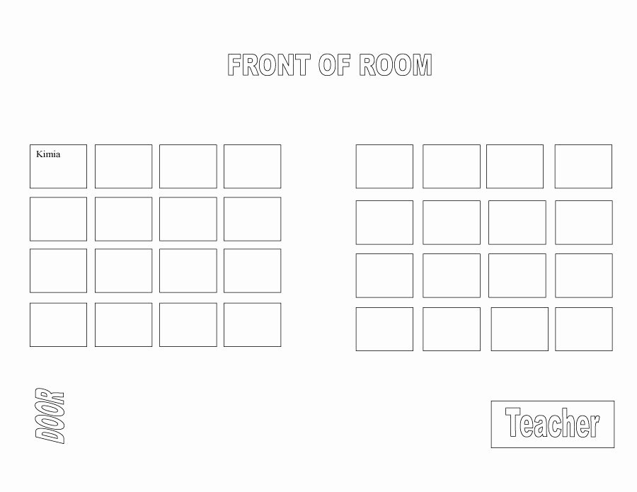 Free Seating Chart Template Awesome 40 Great Seating Chart Templates Wedding Classroom More