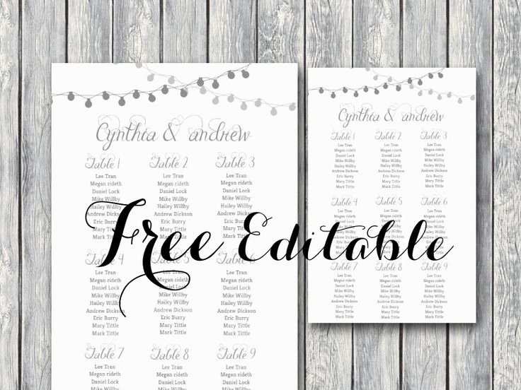 Free Seating Chart Template Fresh Free Editable Wedding Seating Chart Template Printable