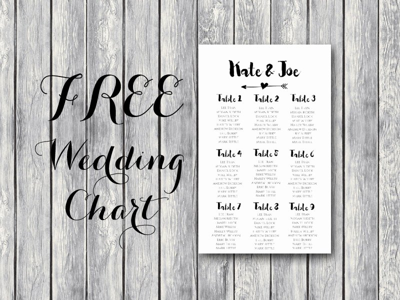 Free Seating Chart Template Inspirational Free Arrow Wedding Seating Chart Template Bride Bows