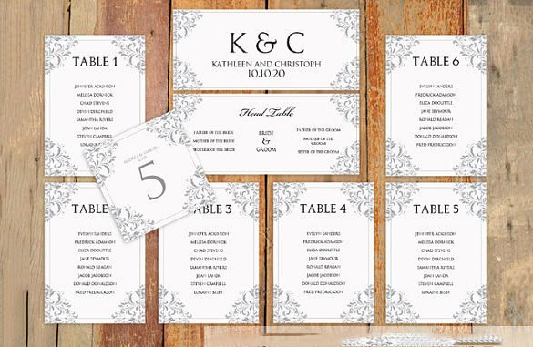 Free Seating Chart Template Inspirational Wedding Seating Chart Template