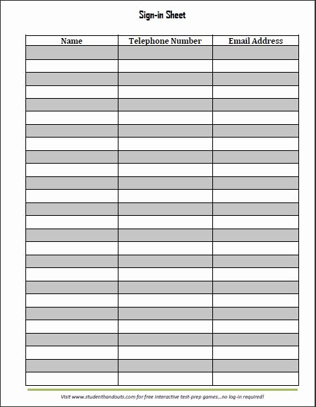 Free Sign In Sheet Template Unique Guest and Visitor Sign In Sheet
