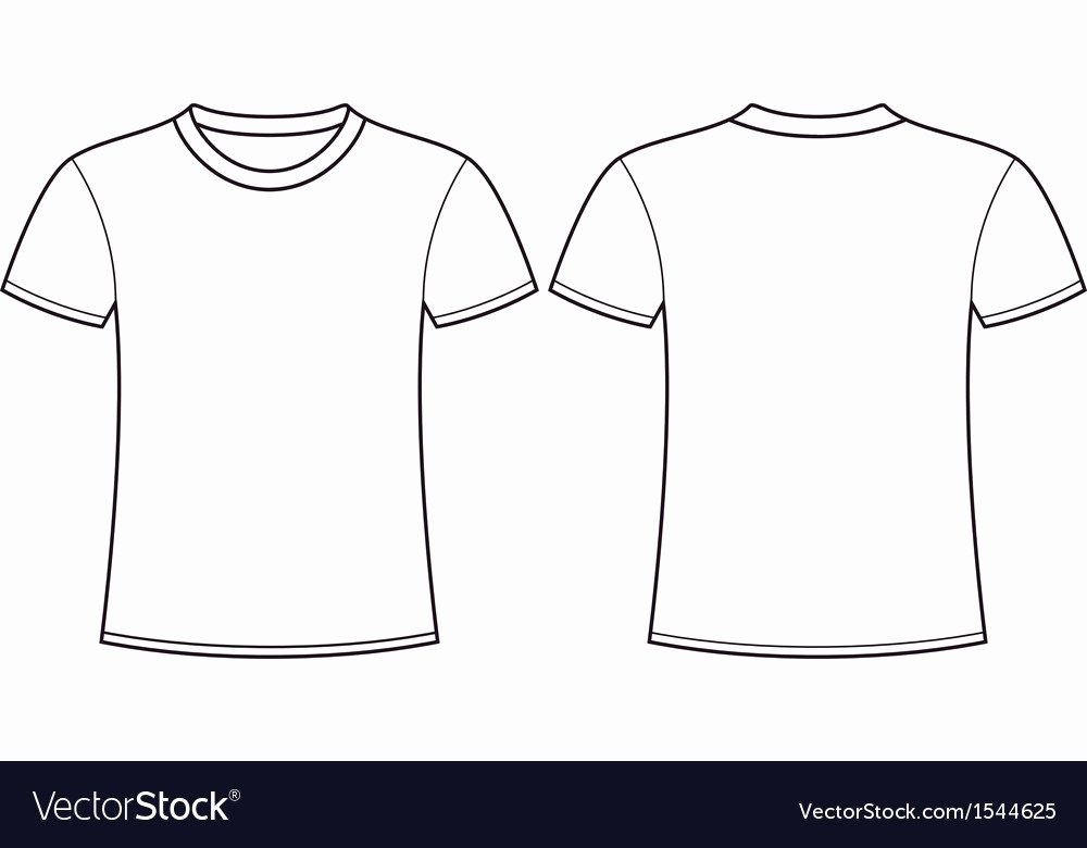 Free T Shirt Template Best Of Blank T Shirt Template Front and Back Royalty Free Vector