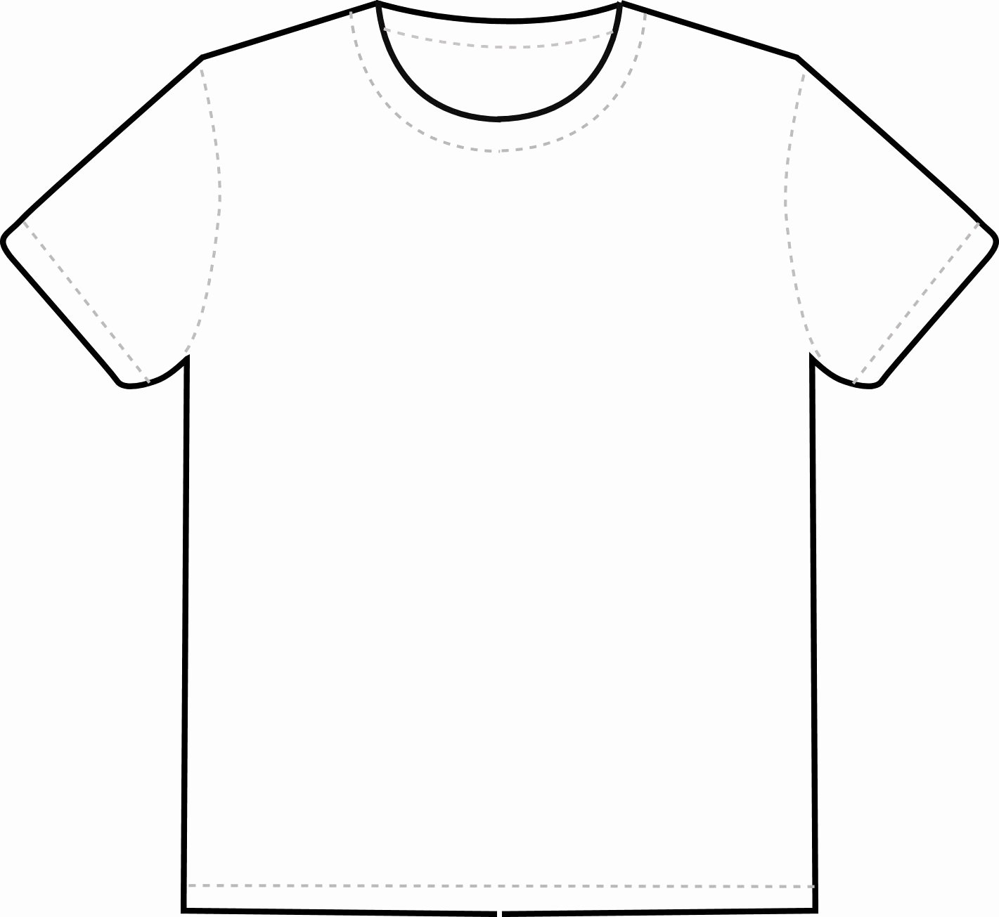 Free T Shirt Template Best Of T Shirt Outline Clipart Clipart Best Clipart Best