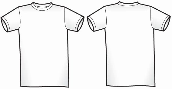 Free T Shirt Template Unique Free Of Twosided T Shirt Template Free Vector