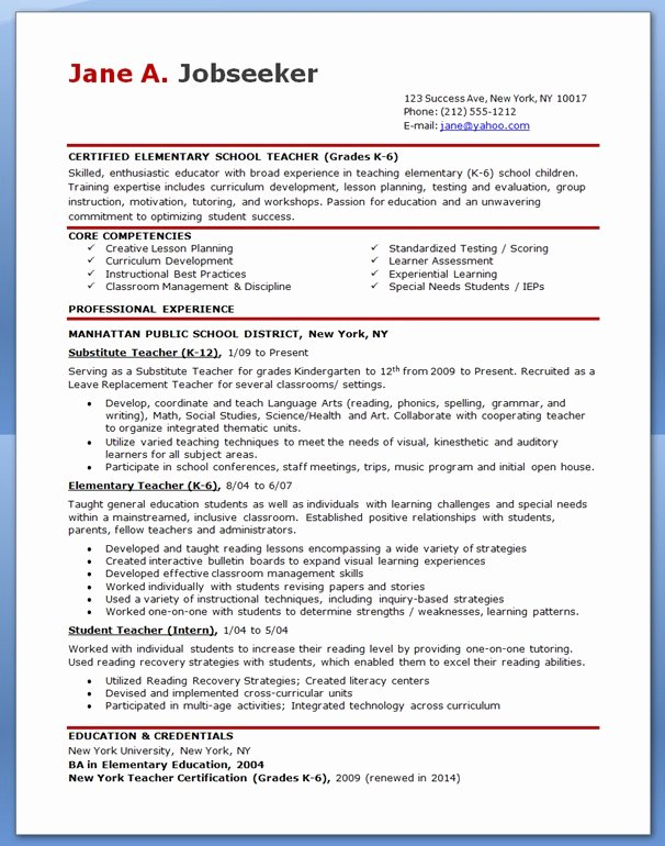 Free Teacher Resume Templates Best Of Free Professional Resume Templates Download