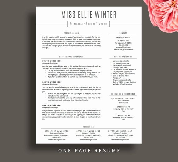 Free Teacher Resume Templates Elegant Teacher Resume Template for Word & Pages Resume Cover