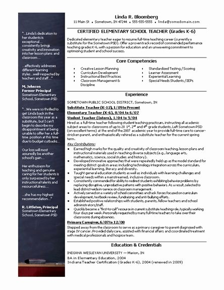 Free Teacher Resume Templates Lovely 28 Best Images About Teacher Resumes On Pinterest