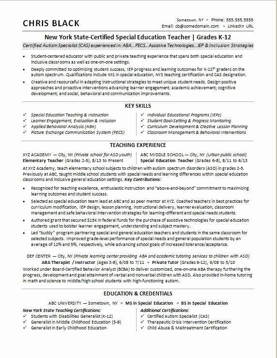 Free Teacher Resume Templates Unique Teacher Resume Sample