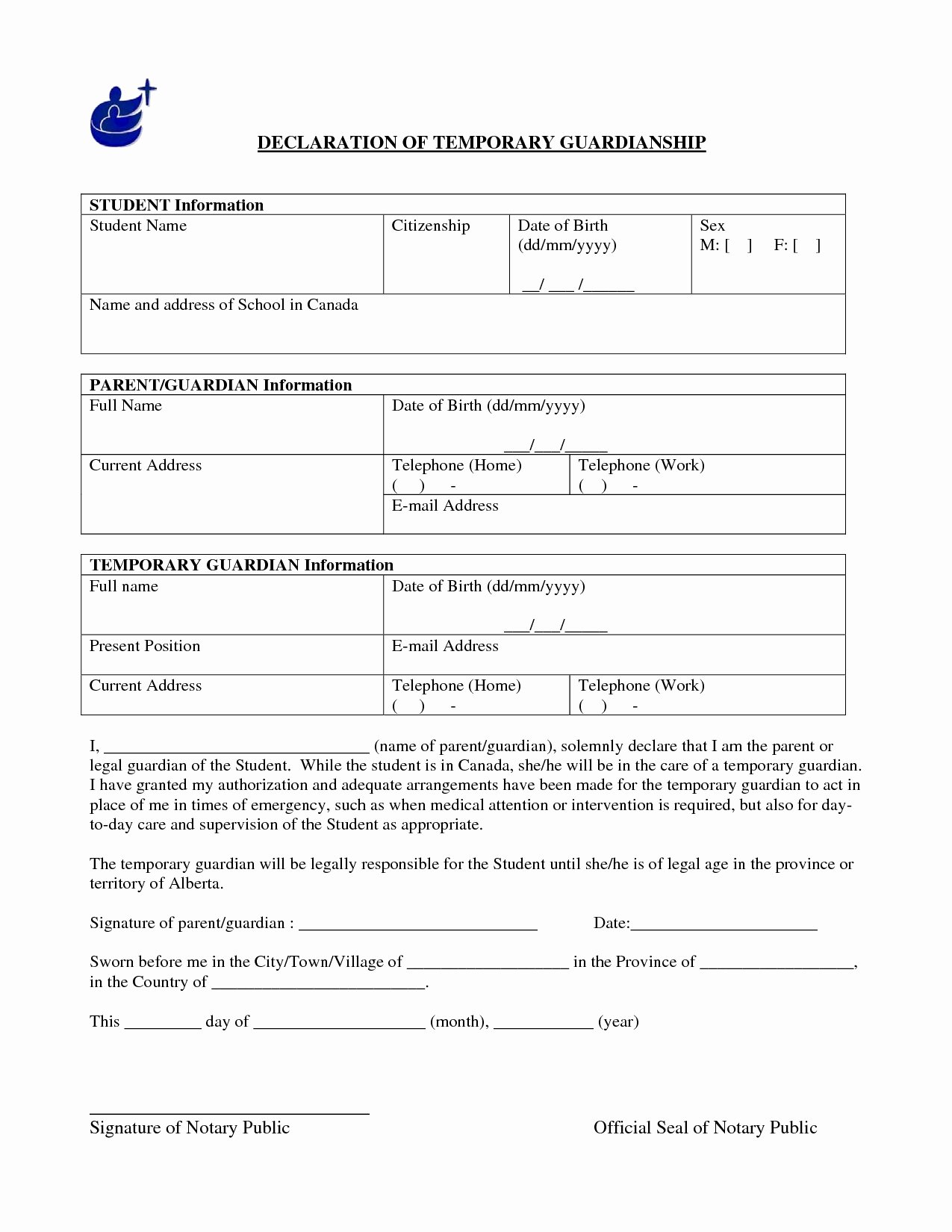 Free Temporary Guardianship form Awesome Printable Custody Agreement forms Great Best S Free