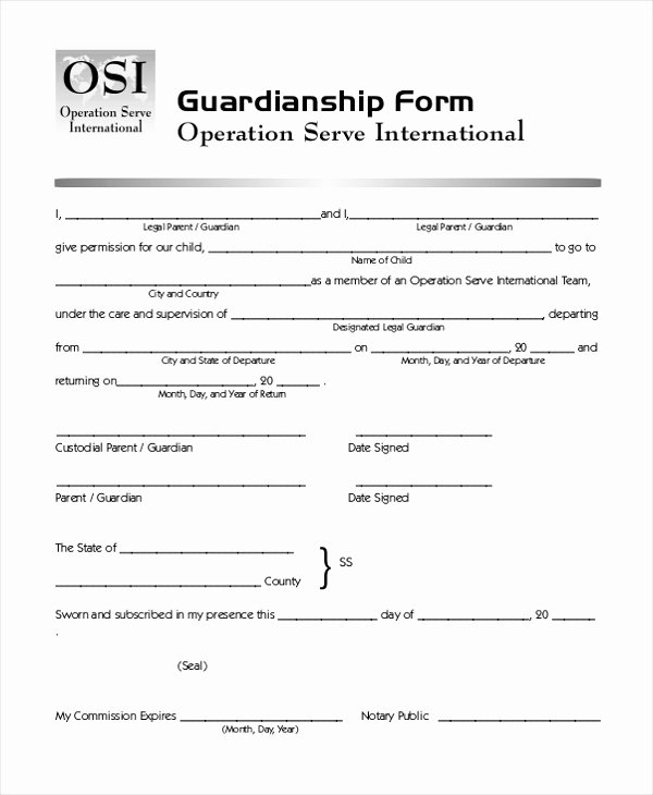 Free Temporary Guardianship form Best Of Free Printable Child Custody forms – Lejardindutemps