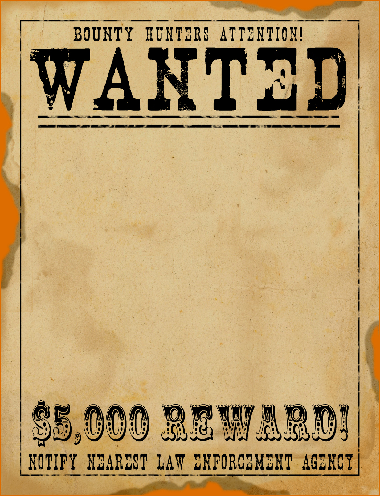Free Wanted Poster Template Awesome 6 Wanted Posters Template