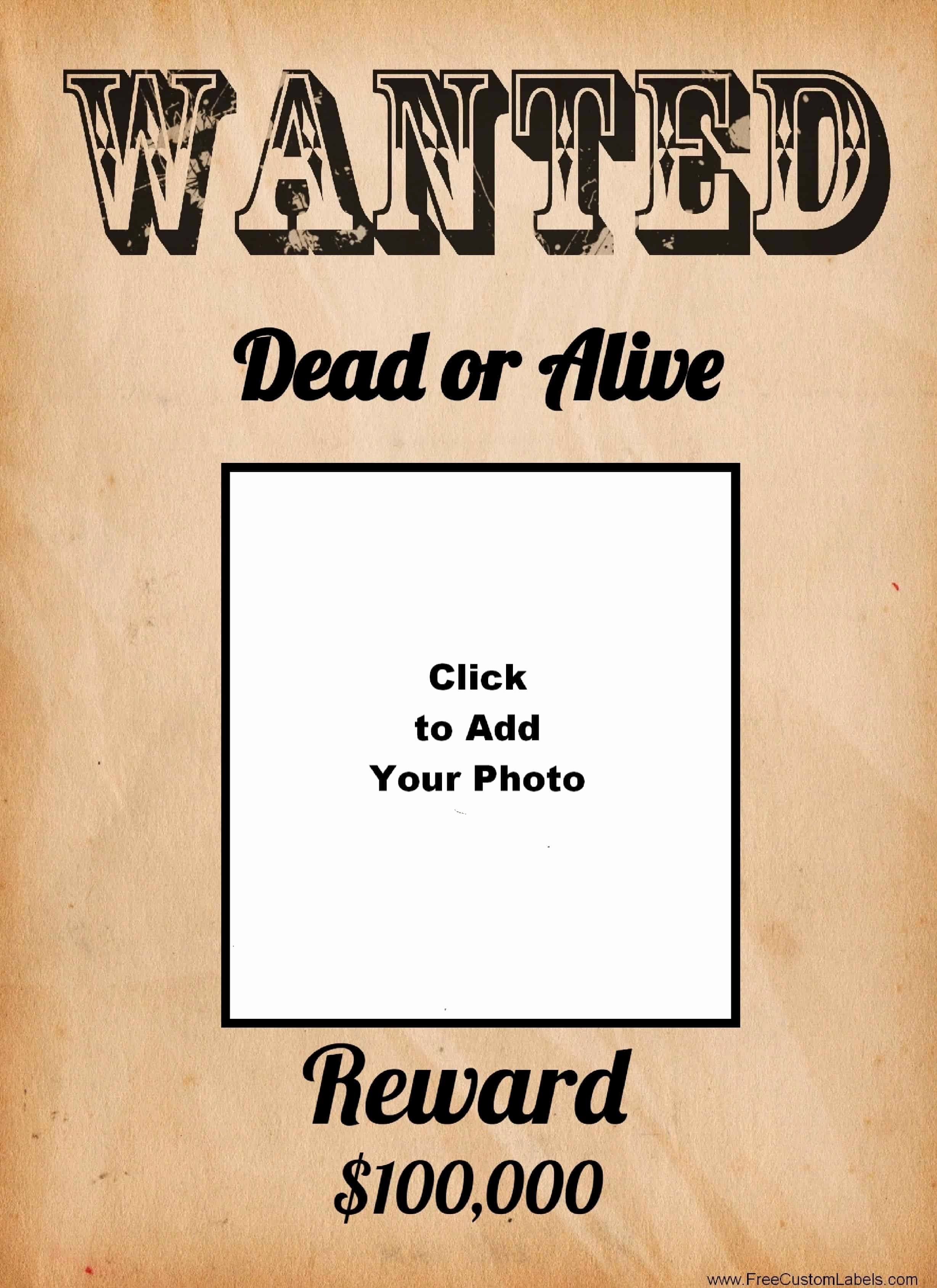 Free Wanted Poster Template Elegant Free Wanted Poster Maker