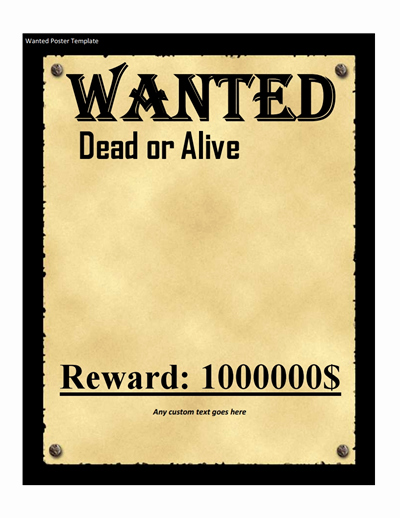 Free Wanted Poster Template Elegant Wanted Poster Template Free Download Create Edit Fill