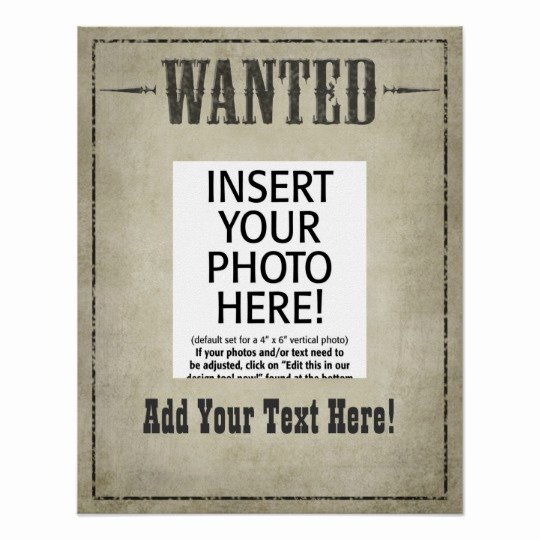Free Wanted Poster Template Elegant Wanted Poster Template