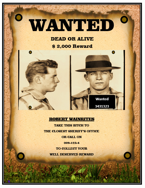Free Wanted Poster Template Inspirational 13 Free Wanted Poster Templates Printable Docs – Word
