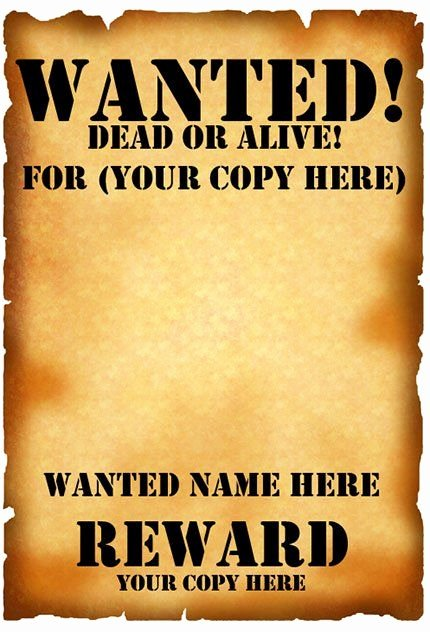 Free Wanted Poster Template Inspirational 15 Best Images About Wanted Poster On Pinterest
