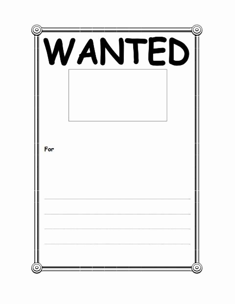 Free Wanted Poster Template Inspirational 29 Free Wanted Poster Templates Fbi and Old West
