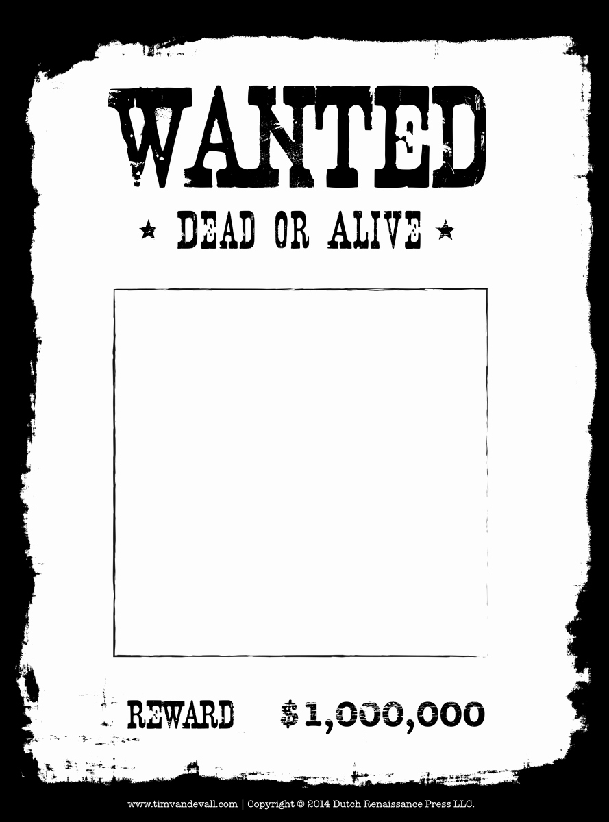 Free Wanted Poster Template Lovely Tim Van De Vall Ics & Printables for Kids
