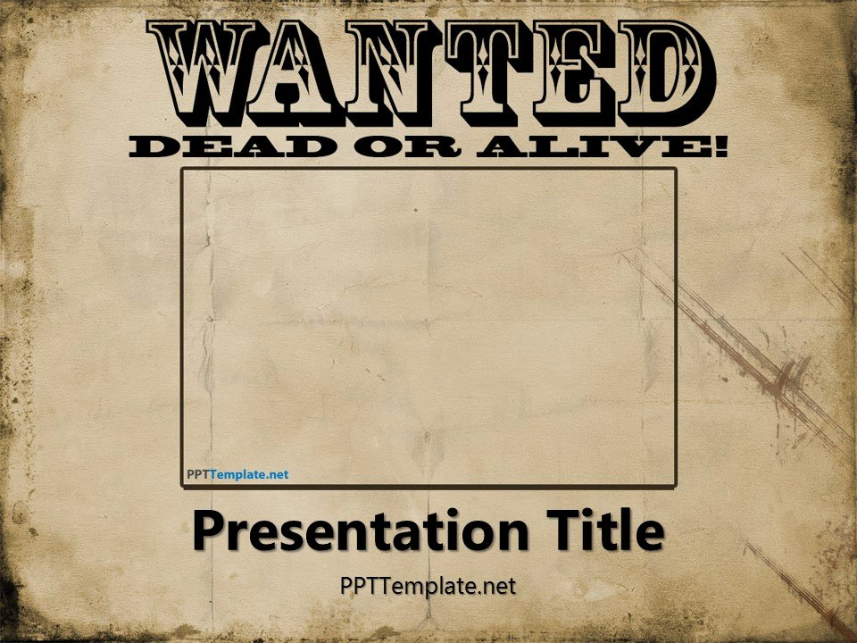 Free Wanted Poster Template New Free Wanted Poster Template for Powerpoint