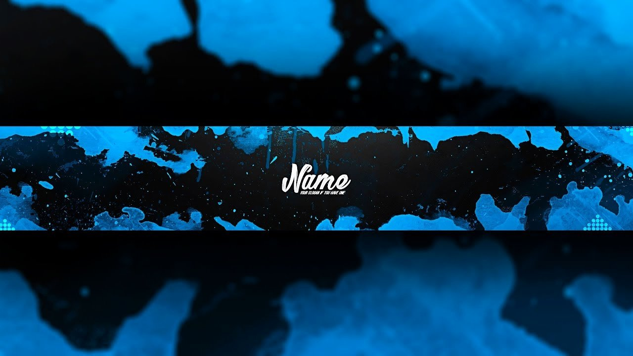 Free Youtube Banner Templates Awesome [free Gfx] Insane Blue and Black Youtube Banner Template
