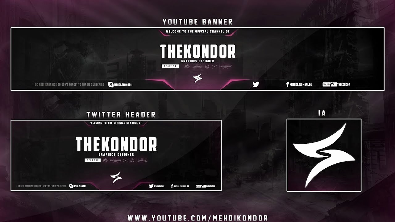 Free Youtube Banner Templates Awesome New Banner Template Free \ My New