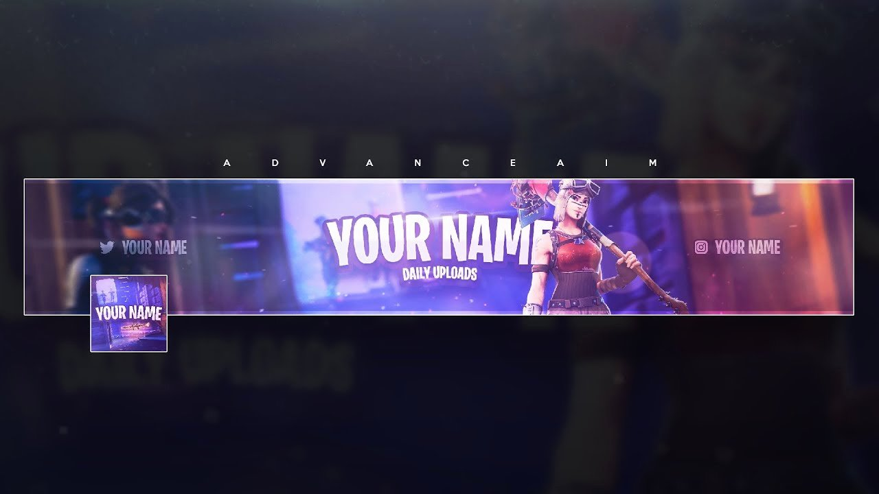 Free Youtube Banner Templates Best Of fortnite Banner Template Free Tutorial
