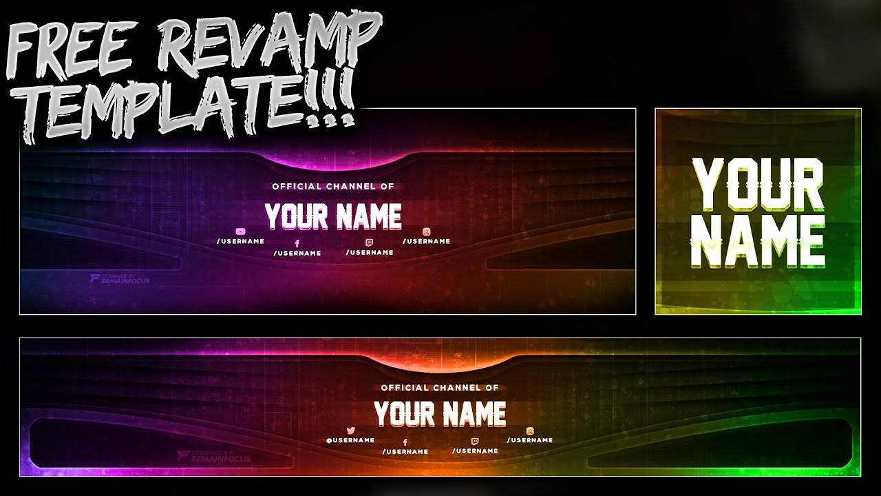 Free Youtube Banner Templates Best Of Free Youtube Banner Twitter Header Template Psd Free