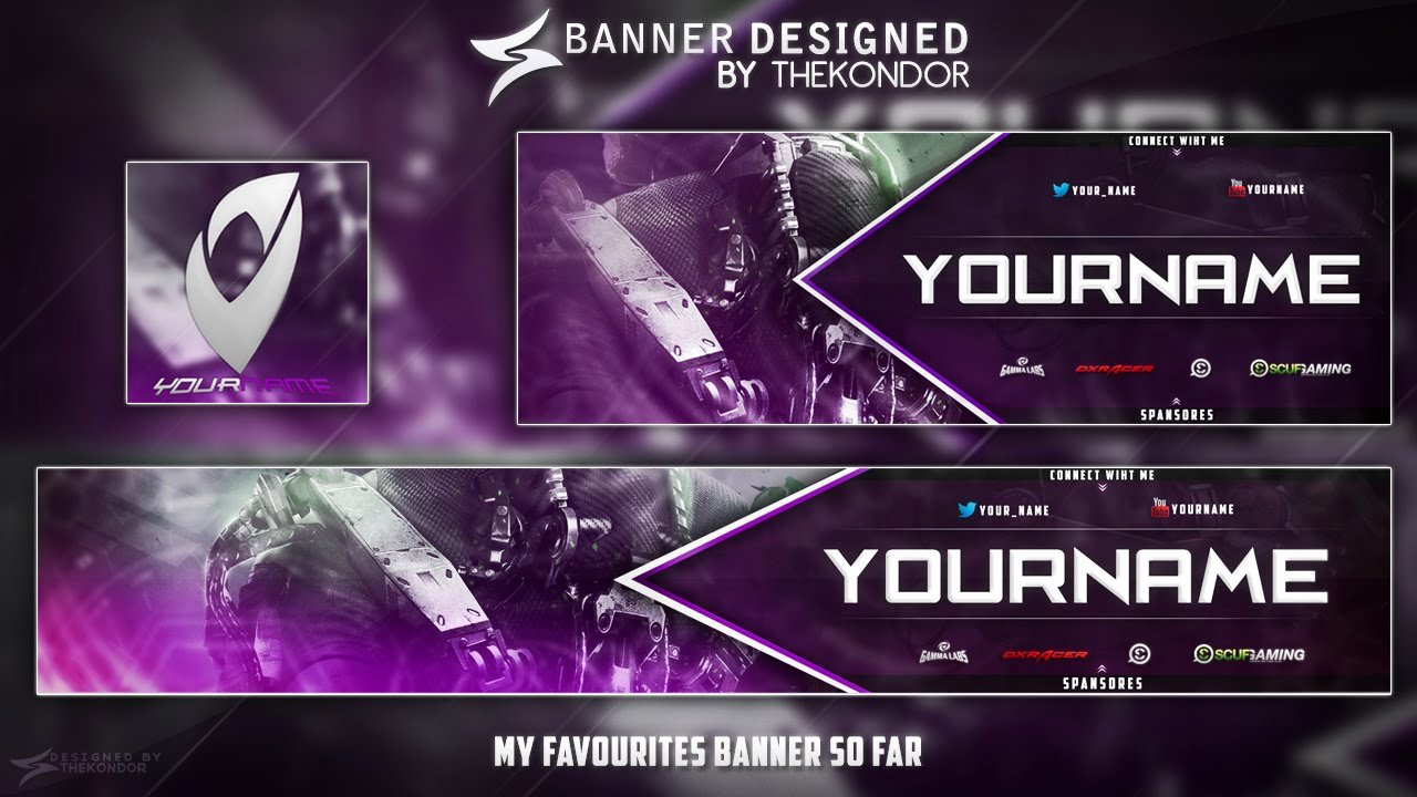 Free Youtube Banner Templates Best Of New Banner Template Free \ Thanks for