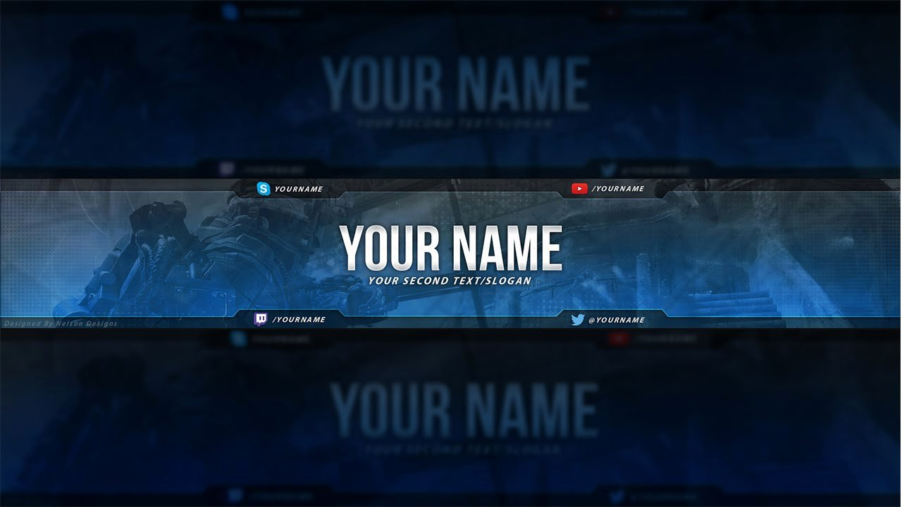 Free Youtube Banner Templates Luxury Call Duty Banner Template Free Download Psd