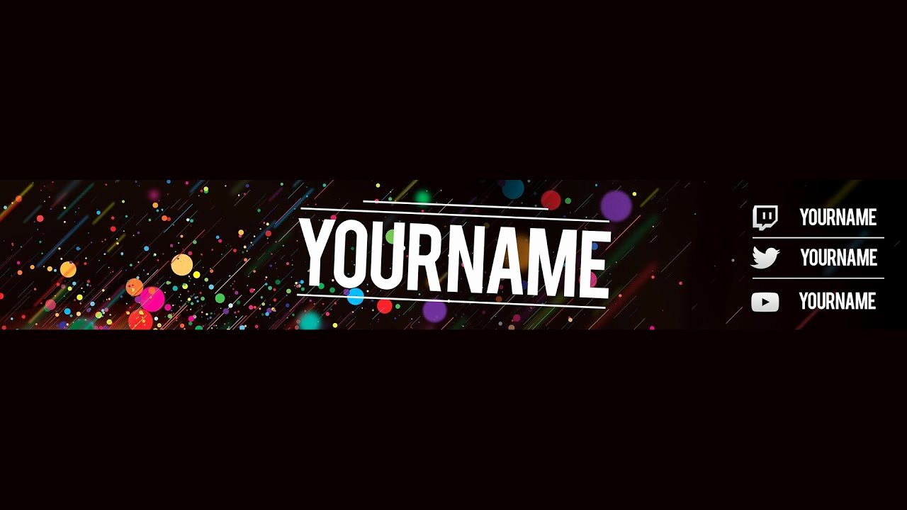 Free Youtube Banner Templates New Free Youtube Banner Template