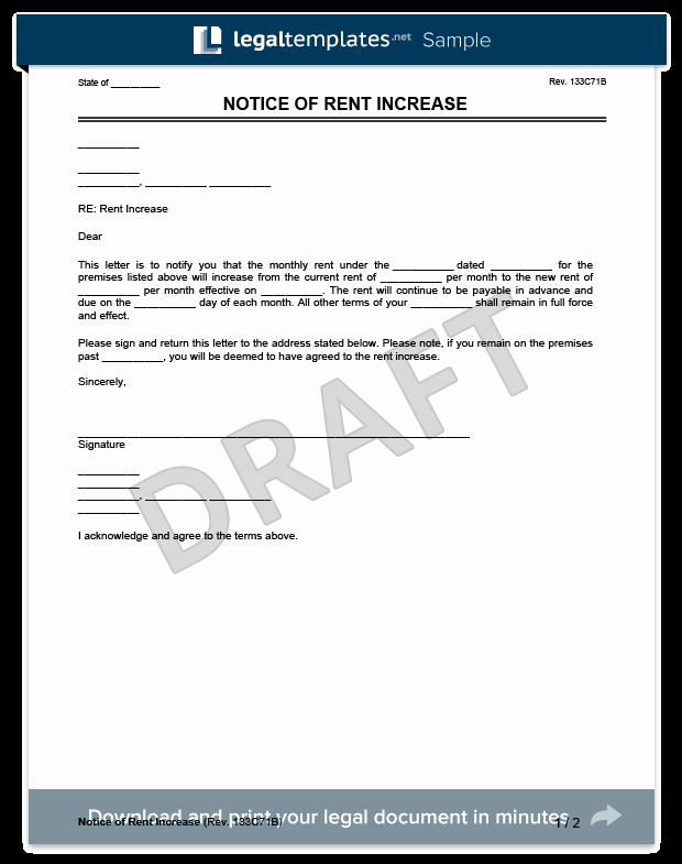 Friendly Rent Increase Letter Fresh Create A Rent Increase Notice In Minutes