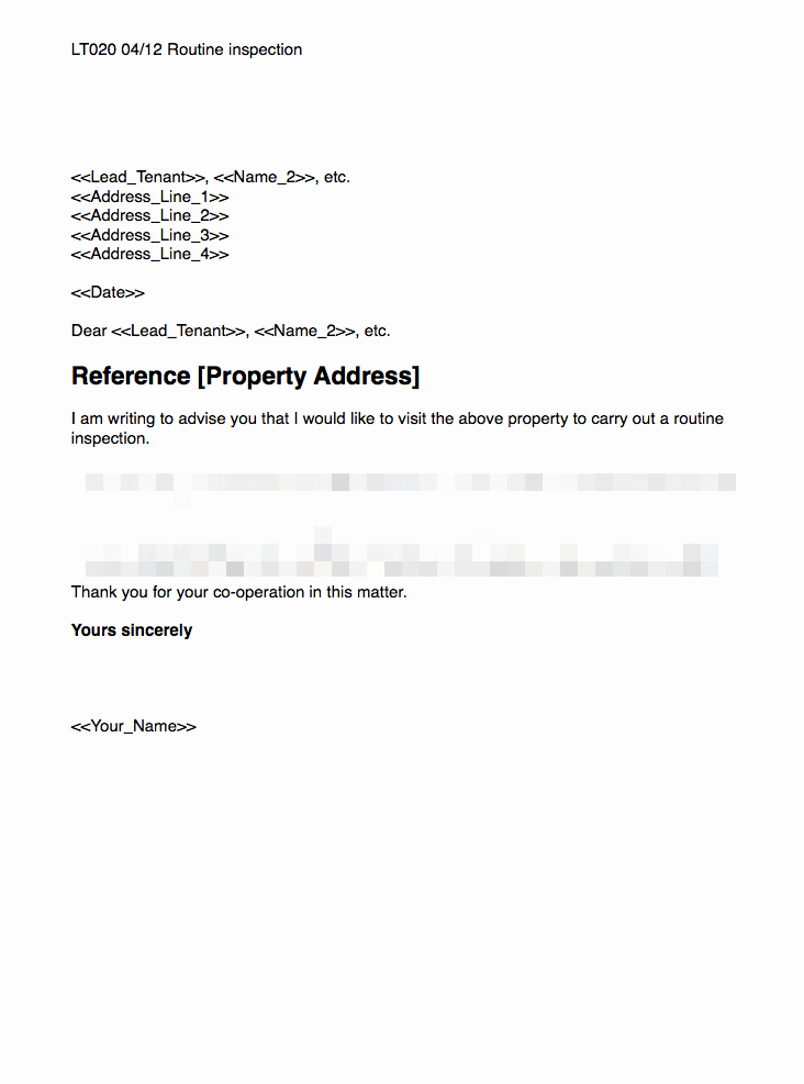 Friendly Rent Increase Letter Lovely Routine Inspection Template
